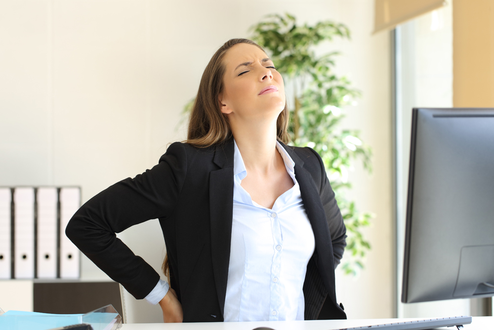 Managing back pain at work