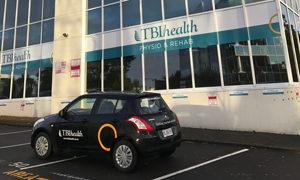 TBI Health clinic and car